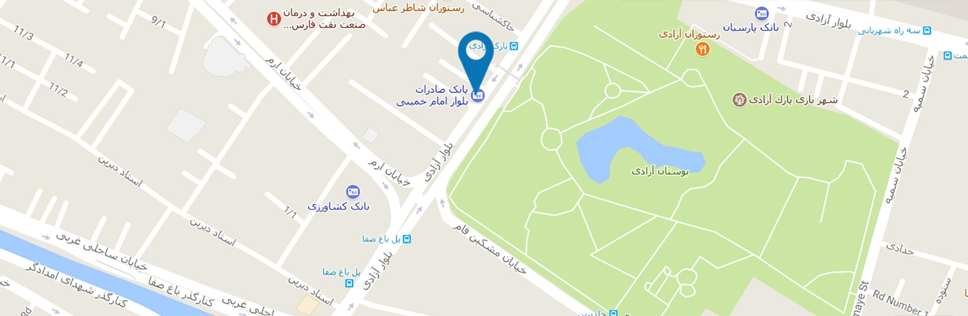 نقشه کلینیک آرسته تماس با کلینیک آرسته شیراز تماس با ما pinc2023
